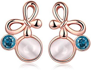 KALLEYA Imitación perlas de oro de recubrimiento de mariposa pendientes fiesta de cumpleaños para damas