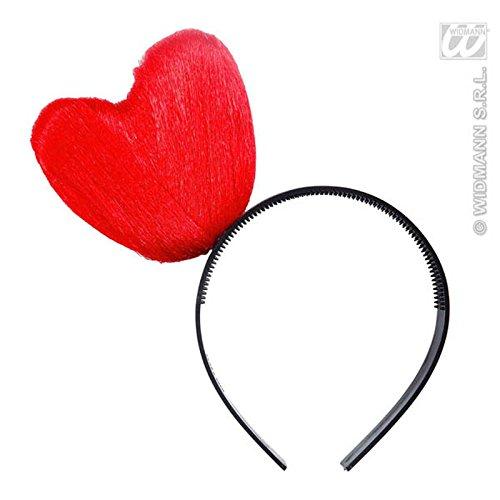 156/rot–Haarreif Herzen–Größe rot (Party-thema-ideen Für Erwachsene)
