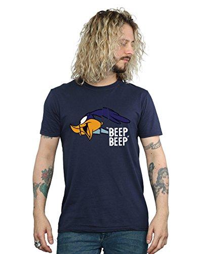 Looney Tunes Herren Road Runner Beep Beep T-Shirt Medium Marine