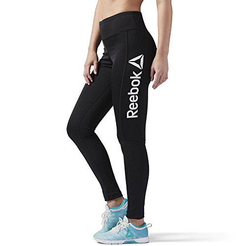 Reebok Damen Workout Ready Leggings, Schwarz schwarz