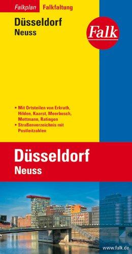 Falkplan Falk-Faltung Düsseldorf / Neuss