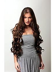 Long Extensions capillaires à pinces Cheveux ondulés