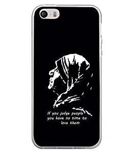 Fuson Premium Mother Teresa Metal Printed with Hard Plastic Back Case Cover for Apple iPhone 5