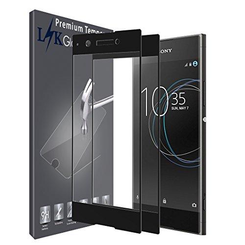 [2 Stück] LK Schutzfolie für Sony Xperia XA1 , Sony Xperia XA1 Panzerglas, LK Full Cover Gehärtetem Glas Hartglas Displayschutzfolie mit Lebenslange Ersatzgarantie (Schwarz)