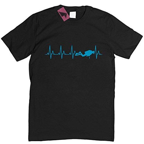 Prism Clothing Co. Herren T-Shirt Blau Blau Schwarz - Schwarz