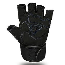 HiCool Fitnesshandschuhe Trainingshandschuhe Gym Fitness Gewichtheben Handschuhe Herren Bodybuilding Workout Sports Pro Wrist Wrap (L)