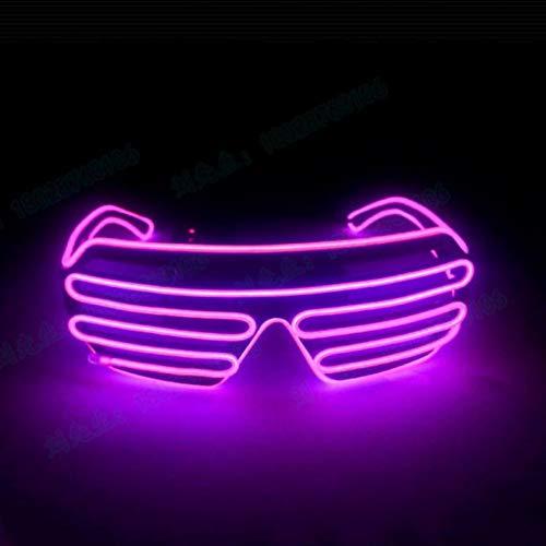 Forart LED-Brille, Kunststoff Shutter Shades Brille Shades Sonnenbrille für Erwachsene Kinder im Dunkeln leuchten Partei begünstigt Neon Party Supplies