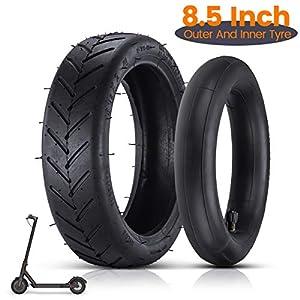 8 1/2 Ersatzräder Außen- und Innen Reifen, Elektroroller-Gummireifen Langlebiger Anti-Rutsch-Reifen, 8,5-Zoll-Roller…