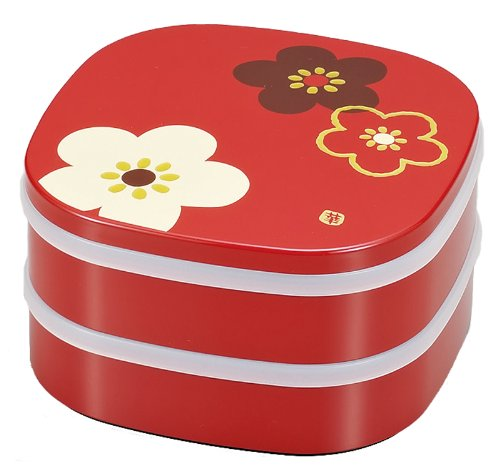 Double Bento Box Rond Decoration Ume