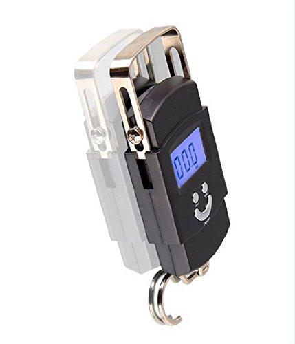 Aseun LCD Etekcity Kofferwaage (max. 50 kg, Genauigkeit 10g, Data Lock, Tara, Batteriebetrieb),Schwarz