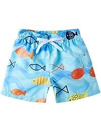 e926d32b6 Vogseek Niños Bañadores Pantalones Cortos de Surf Trajes de baño Divertidos  Impresos en 3D Ropa de Playa de Secado rápido Pantalones…
