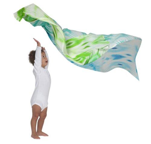 OiOi Ikat Wickeltuch aus Musselin, naturfarben mit mehrfarbigem Aufdruck, Digitaldruck