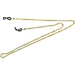 MagiDeal Collier de Lunettes Chaîne Support de Cou pour Soleil Sport - Or, 65cm