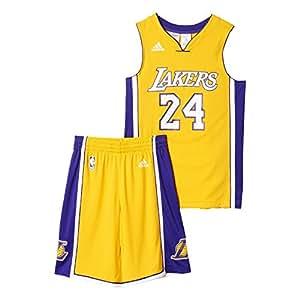 adidas tenue de basket pour enfant los angeles lakers 13 14 ans jaune sports et loisirs. Black Bedroom Furniture Sets. Home Design Ideas