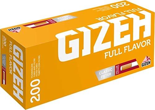 GIZEH Silver Tip Boy 5x200 GIZEH Menthol + 1.000 Zigarettenhülsen Stopfer