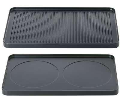 Spring 3267500101 Raclette8 Aluminium-Grillplatte, Stahl, schwarz