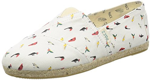 Paez Damen Original Raw-Prints Espadrilles, Mehrfarbig (Multicolor Birds), 38 EU (Espadrilles Leinen)