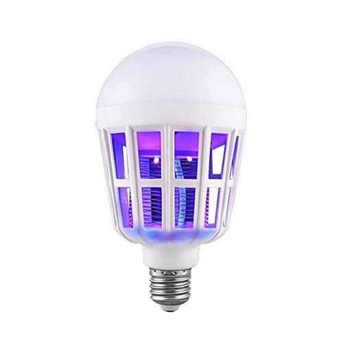 JINZHIHAO Geführte Moskito-Lampe 15W Beleuchtung Haushalt Elektroschock Moskito Lampe Vogelkäfig Moskito Glühbirne,White