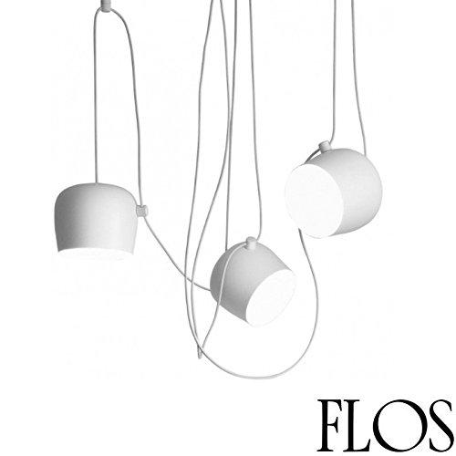 Flos AIM 3flammig LED Pendelleuchte Deckenleuchte komplett weiß f0090009F0093009Design R. & E. Bouroullec 2013