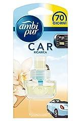 Idea Regalo - Ambi Pur Car Vaniglia Deodorante per Auto con Ricarica, 7 ml