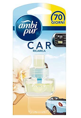Ambi Pur Car Vaniglia Deodorante per Auto con Ricarica, 7 m