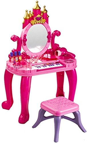 Webby Castle Vanity Table Set with Piano and Real Blower, Multi Color