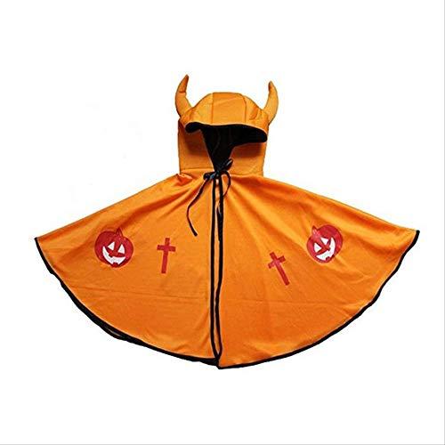 Männlich Teufel Kostüm - KOWSXFTGB Halloween Kinder Umhang Männlich Und Weiblich Horn Teufel Umhang Umhang Mantel Deckmantel Show Kostüm 45X73Cm C