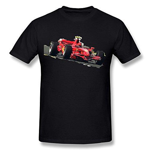 annelano Herren Ferrari F1T-Shirts schwarz, Herren, schwarz (Shirt Tages Eines)