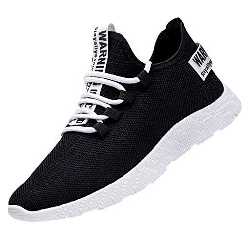 AIni Herren Schuhe Mode 2019 Neuer Heißer Sale Beiläufiges Fliegen Weben le Laufschuhe Touristenschuhe Freizeit Sportschuhe Freizeitschuhe Partyschuhe (39,Schwarz)