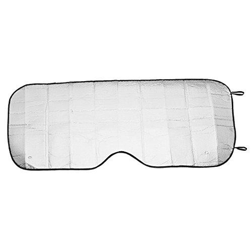 Preisvergleich Produktbild sourcingmap® 140 x 70cm schwarzen Rand Aluminium Folie außen Auto Frontscheibe Sonnenschirm