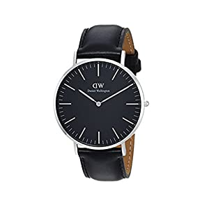 Daniel Wellington Classic Sheffield, Reloj Negro/Plata, 40 mm, Piel, para