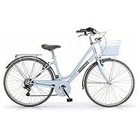 "MBM Silvery, Bicicletta Donna, Blu (Azzurro A25), 28"""