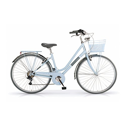 Mbm silvery, bicicletta donna, blu (azzurro a25), 28