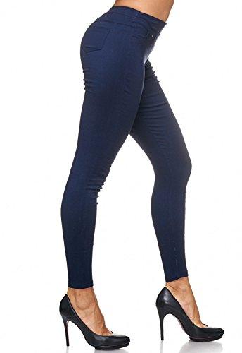 Pantaloni da donna con rivetti Treggings Jeans Jeggings D2123 Blu scuro