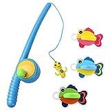Baño con el Juguete de la Pesca de Peces Flotando Gran Regalo para los Niños y Niñas