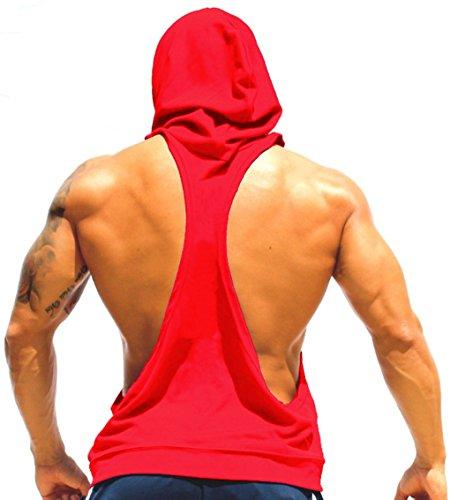 LemonGirl Herren Sport T-Shirt Sweatshirt Hood West Tank Top mit Kapuze Weste Ärmellos Kapuzenshirt Fitness Gym Joggen (Western Print Floral Shirt)