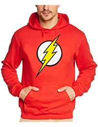 Coole-Fun-T-Shirt Herren Sweatshirt Flash Blitz Justice League Superhelden Hoodie