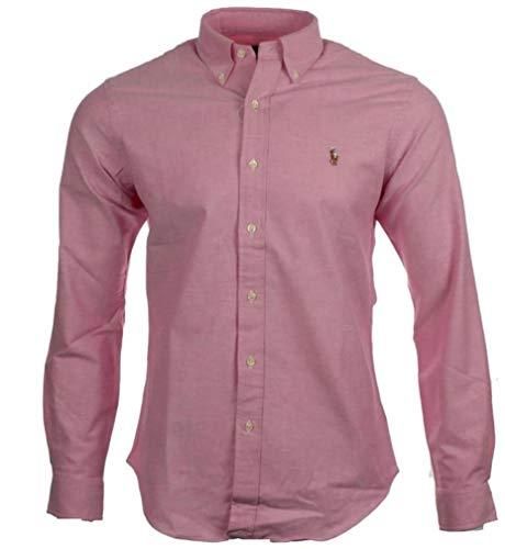 Ralph Lauren Herren Baumwoll-Hemde, Langarm-Hemde, (Pink, XXL)
