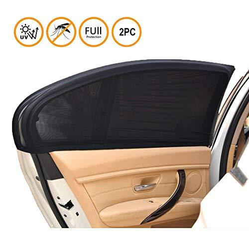 SeWooo Sonnenschutz Auto Baby/Kinder, Sonnenblende Auto mit UV Schutz für Kinder/Hund im Rücksitz, einfache Installation, Seitenfenster ohne Saugnapf,Anti-Mücken und Privatsphäre