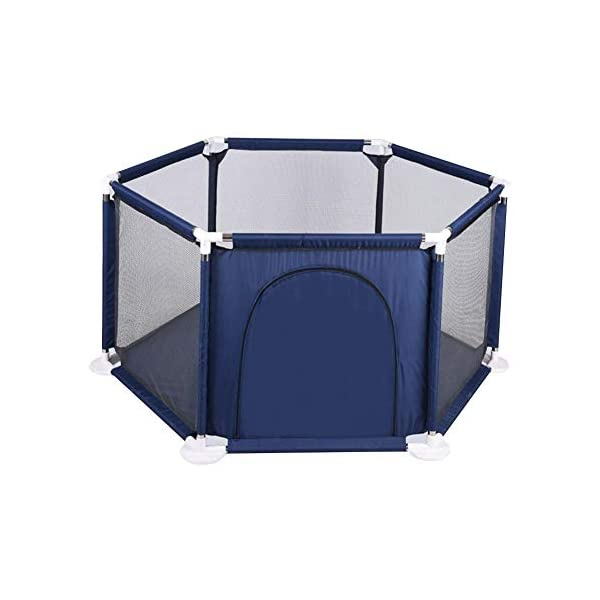 Following Playpen Children's Safety Fence Portable Foldable Playground Toys Washable, Kids Activity Center Room Fitted Floor Mats for Babies/Toddler/Newborn Crawling Following Playpen is the baby's little world, several small baby can play a role inside the game, play house, such a space, the ability to exercise various aspects of your baby, your baby is no longer playing outside all day makes the body dirty just trouble. Freestanding and portable, use inside or outdoors. Padded floor for comfort and protection. Lightweight, folding frame comes fully assembled. this is a funny portable safe playgrounds where they can enter at anytime in anywhere! Easy to install, suitable for backyard, park. The portable baby playground can let your children enjoy the game time anywhere. it features thickened pipes to help the baby to learn to walk and round tube piecing safety design to prevent hurting the baby's hands. 2