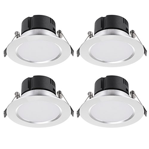 Lite Casa 4Pack 3W Techo Empotrable LED Foco Diseño antiniebla para cuarto...