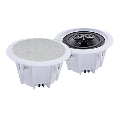 41JXGJHufkL. SS500  - E-Audio 180 W 8-Inch 2-Way Ceiling Speaker - White