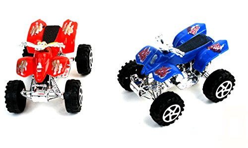 1 x Auto Quad, blau oder rot - ca. 8cm,