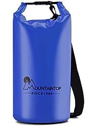 Mountaintop 5L - 20L Bolsa Seca Impermeable del bolso para canotaje, kayak, pesca, playa, rafting, nadar, acampar con correa para el hombro