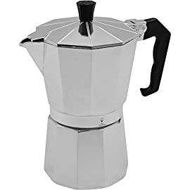 Argon Tableware 6 Cup Italian Style Stove Top Coffee Percolator. Traditional Design