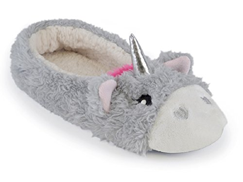 Ladies Unicorn Ballet Slippers with Sherpa Fleece Lining