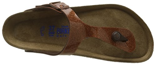 Birkenstock Gizeh Leder Softfootbed, Tongs mixte adulte Multicolore - Multicolor (Magic Galaxy Bronze)
