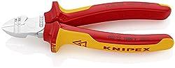KNIPEX 14 26 160 Abisolier-Seitenschneider verchromt isoliert mit Mehrkomponenten-Hüllen, VDE-geprüft 160 mm