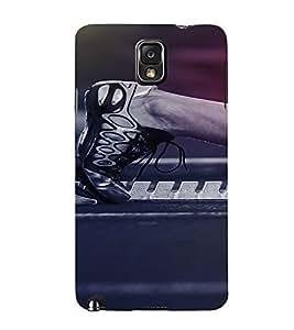 PrintVisa Sports Running Design 3D Hard Polycarbonate Designer Back Case Cover for Samsung Galaxy Note 3