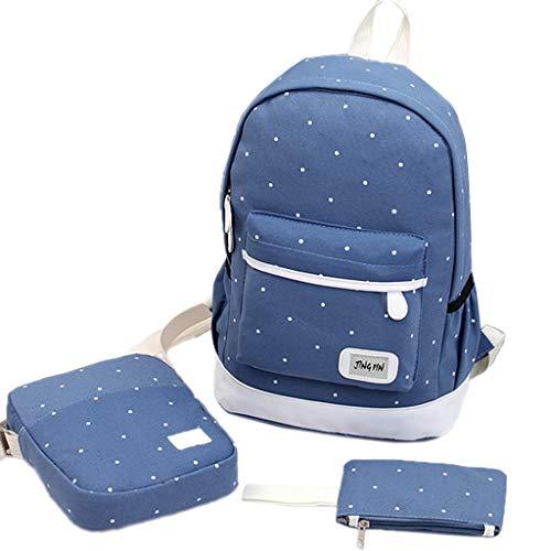 Qiuday 3PC Damenrucksäcke Laptoprucksack Rucksäcke Jungen Schulrucksäcke Teenager Schultasche,Ultraleicht Jugendliche Cityrucksack, Schoolbag,verschleißfest Schulranzen Und Rucksack